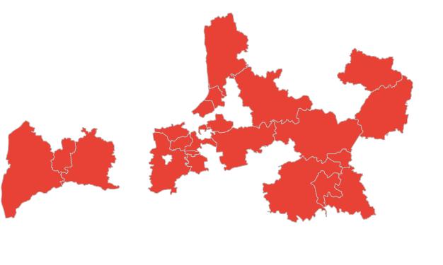 MDC uzturētās teritorijas